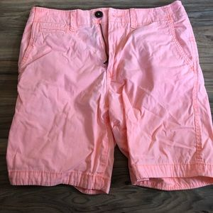 Mens peach American eagle prep fit shorts. NWOT